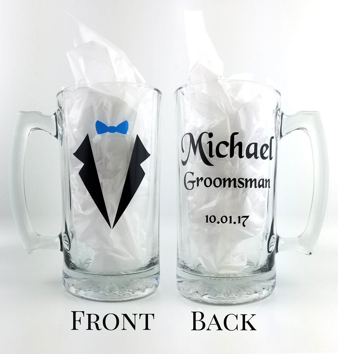 Personalized Wedding Gifts For Groomsmen: 26 Oz Beer Mug With Name Role