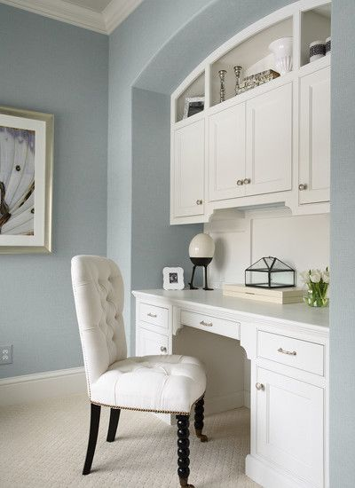 image detail for home office built in desk design pictures remodel decor - Built In Desk Designs