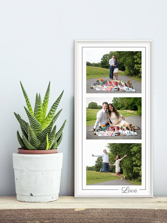 Photo Collage Template - 10x20, 3 Images, Love Photoshop Collage ...