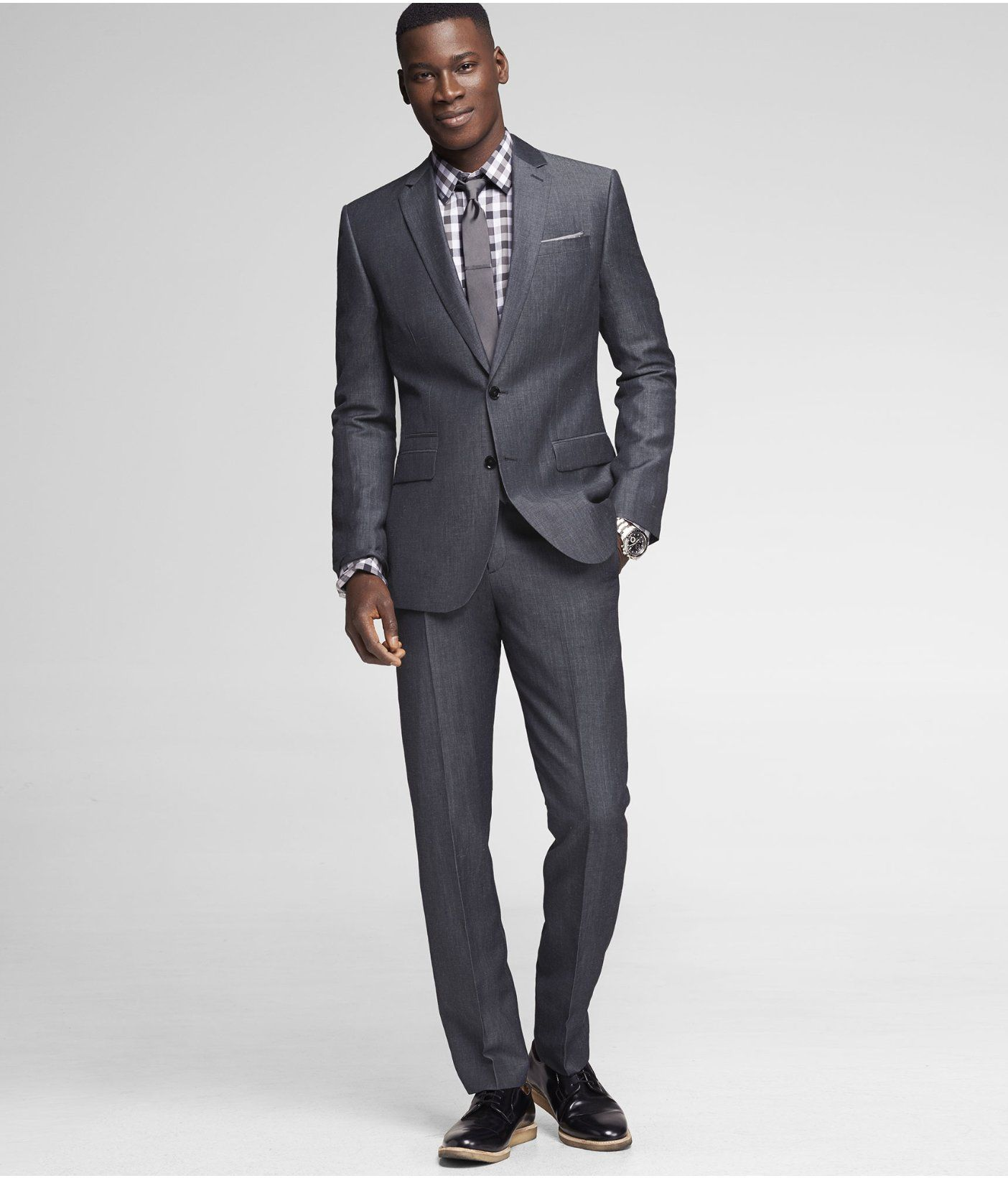54d8f416026 We love the slim look of the Photographer Suit. #Express. Find this Pin and  more on Express Men by ...