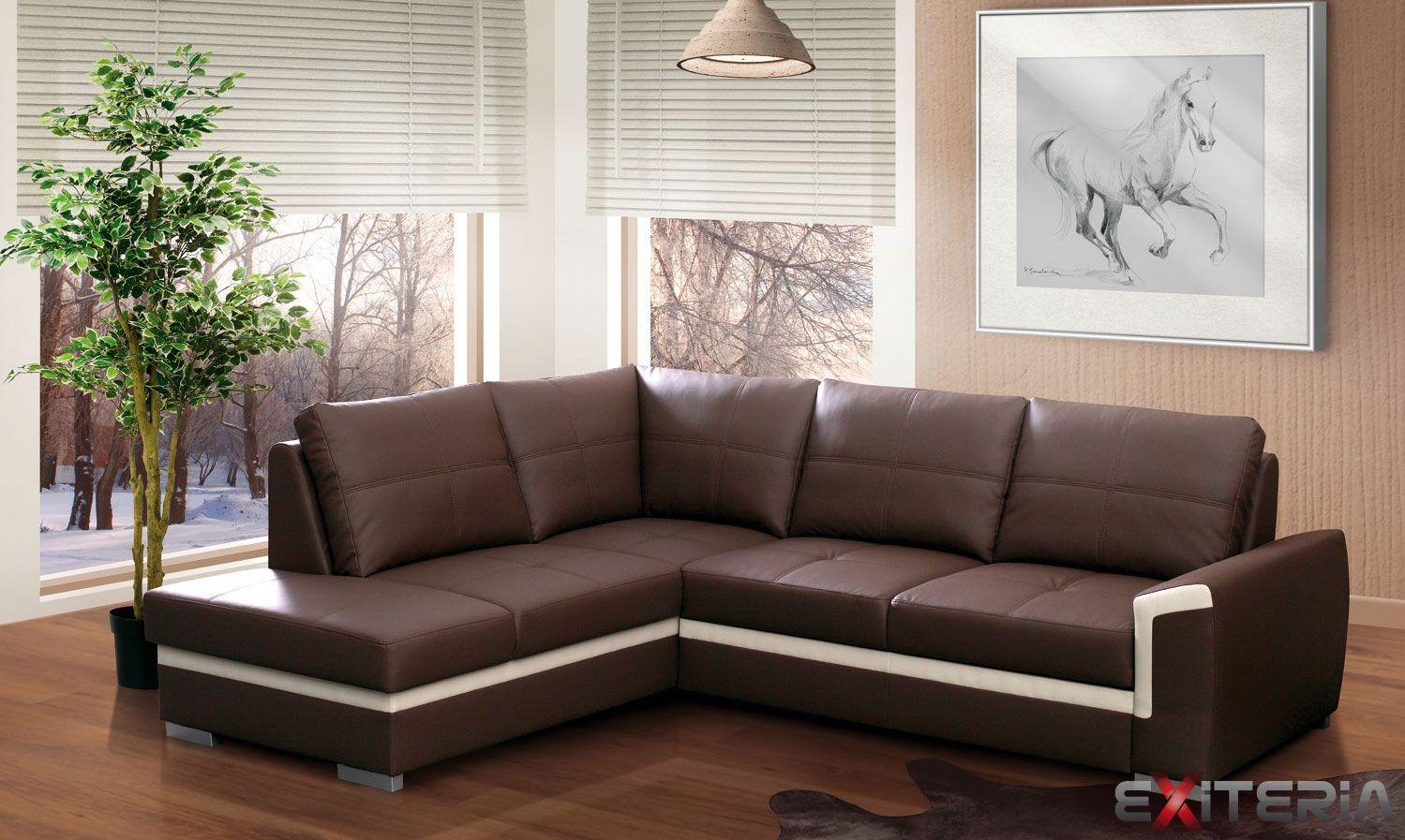 Rohová rozkladacia sedacia súprava Leandra, úložný priestor #sofa #settee #divan #couch