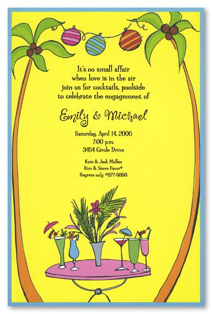 Tropical Beach Invitations Tropical Cocktails Crafts Pinterest