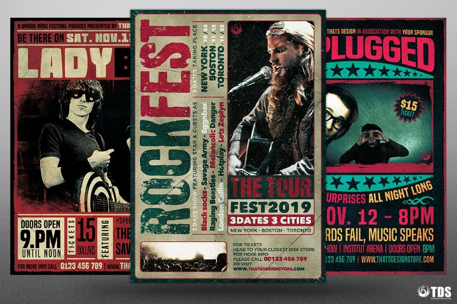 20+ Band Flyer Template Psd For Event, Concert And Live Music | 20