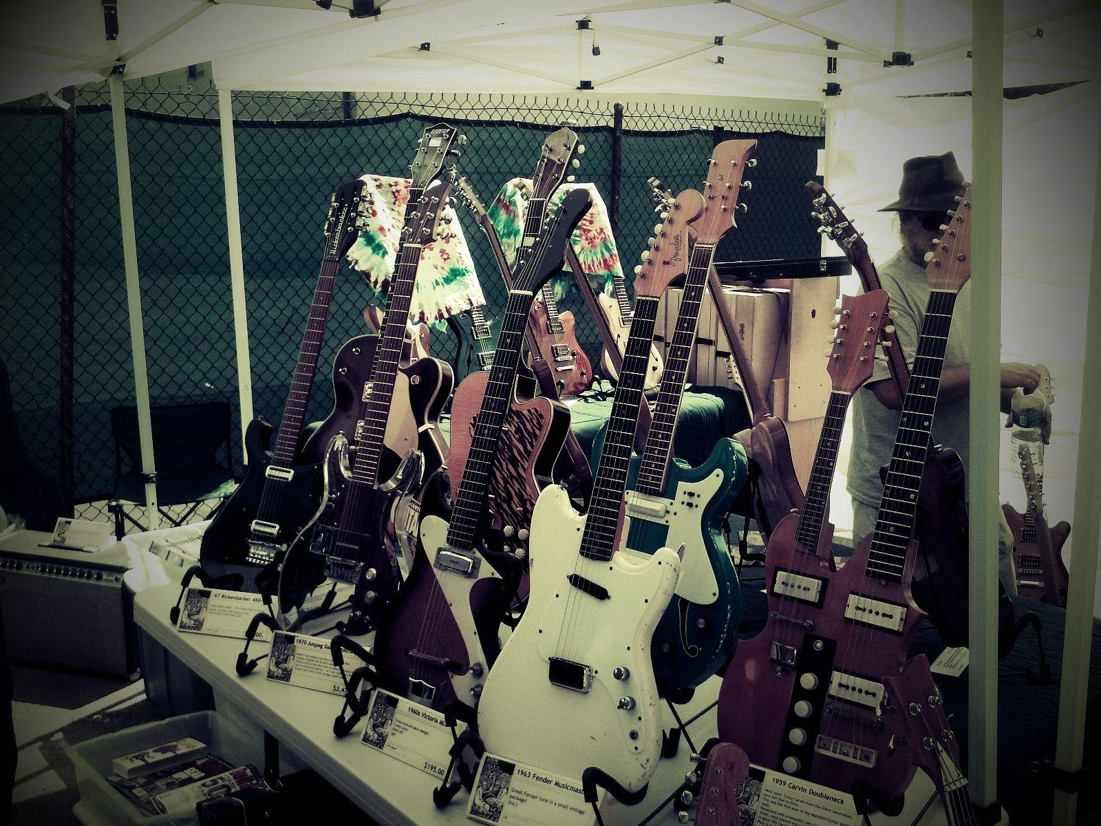 Guitars of all eras at Gear Up LA #guitar