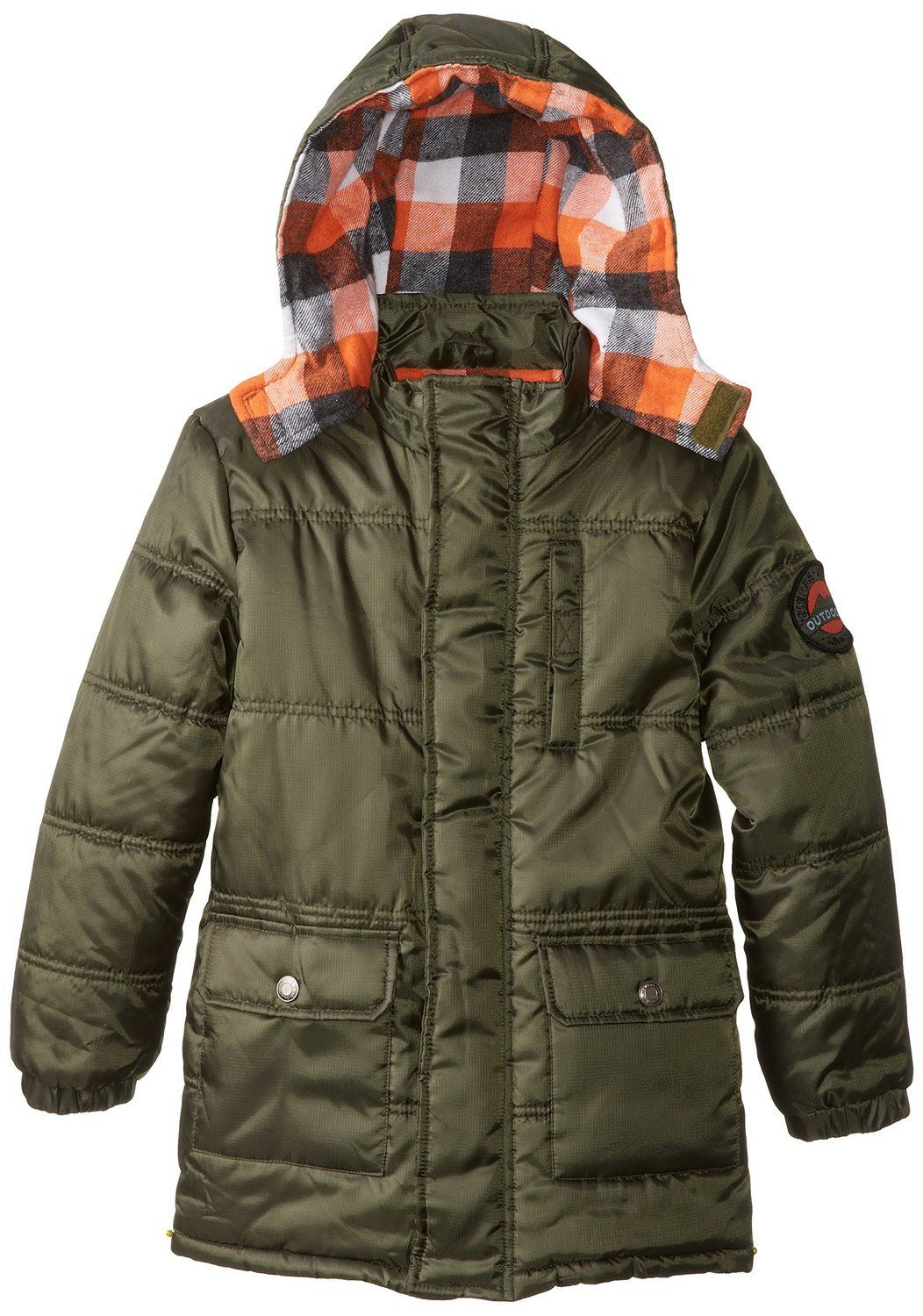 439cb846d Ixtreme Little Boys Hooded Down Alternative Bubble Puffer Coat with ...