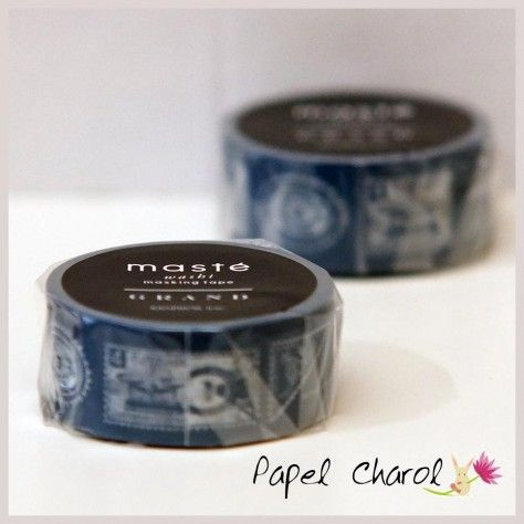 Masté Grand Stamps Navy Blue