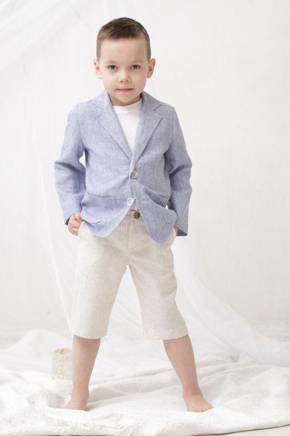 Boys Blazer Boys Linen Jacket Ring Bearer Blazer Boys