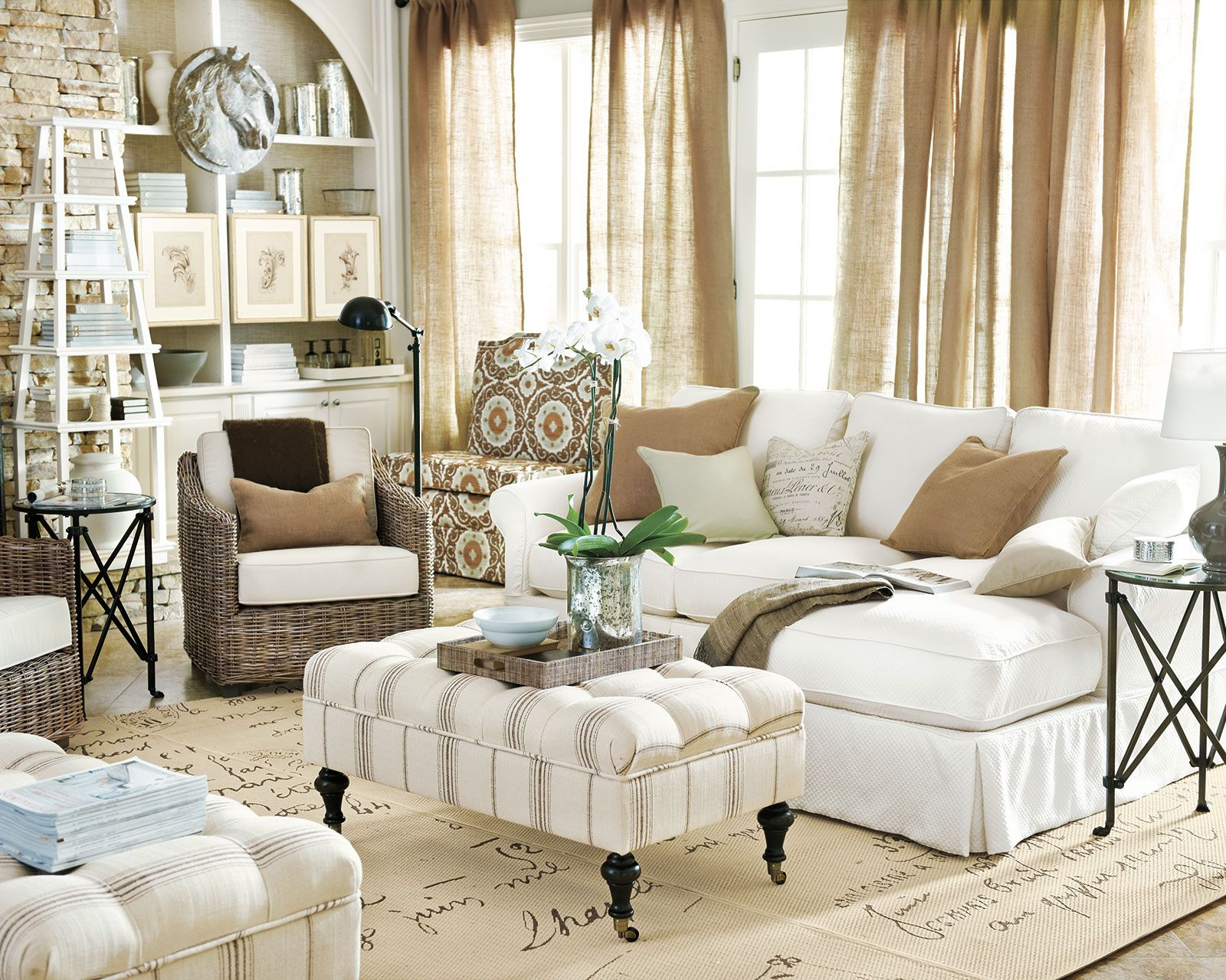 8 Ways to Add Extra Seating to Your Room | Ottomans, Living rooms ...
