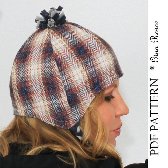 Earflap Hat Pattern. Winter Hat pattern with Pom Pom. PDF pattern ...