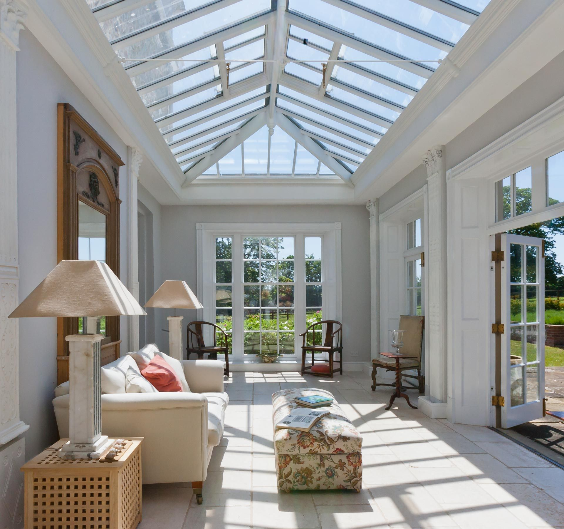 Internal view of a bespoke orangery conservatories for Orangery ideas uk