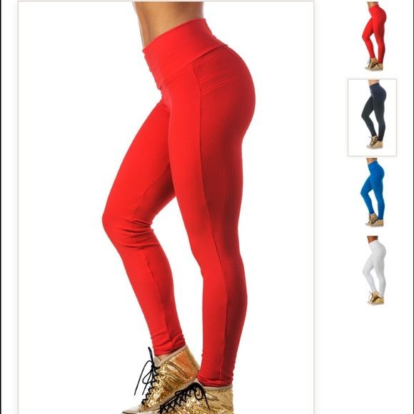 BrazilianButt Push-Up Pants Fitness - Red Red workout leggings that give  you butt an extra boost. Compression leggings. Only worn twice. 57b00d19c208