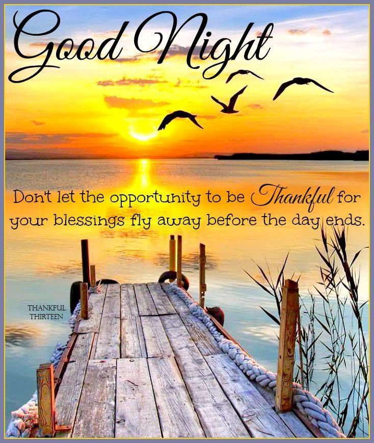 Good Night Be Thankful For Your Blessings Grateful Blessings Goodnight Good Night Goodnight Quotes G Good Night Prayer Good Night Thoughts Good Night Blessings