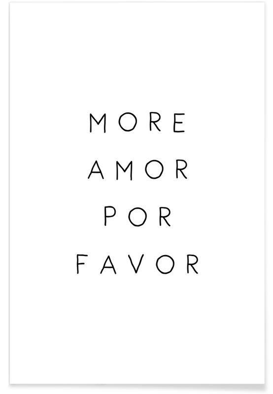 More Amor von Mottos by Sinan Saydik als Premium Poster ✓ Jetzt online kaufen bei JUNIQE ✓ Zuverlässiger Versand ✓ Täglich neue Designs - Jetzt entdecken!