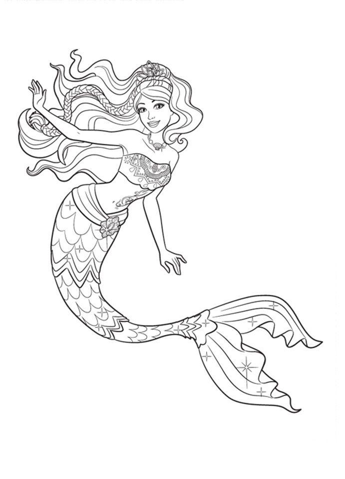 Desenhos de sereia para colorir, pintar, imprimir! Folclore para ...