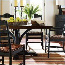 Stanley Furniture Artisan Pedestal Dining Table In Ebony Cost Impressive Stanley Dining Room Set Decorating Inspiration