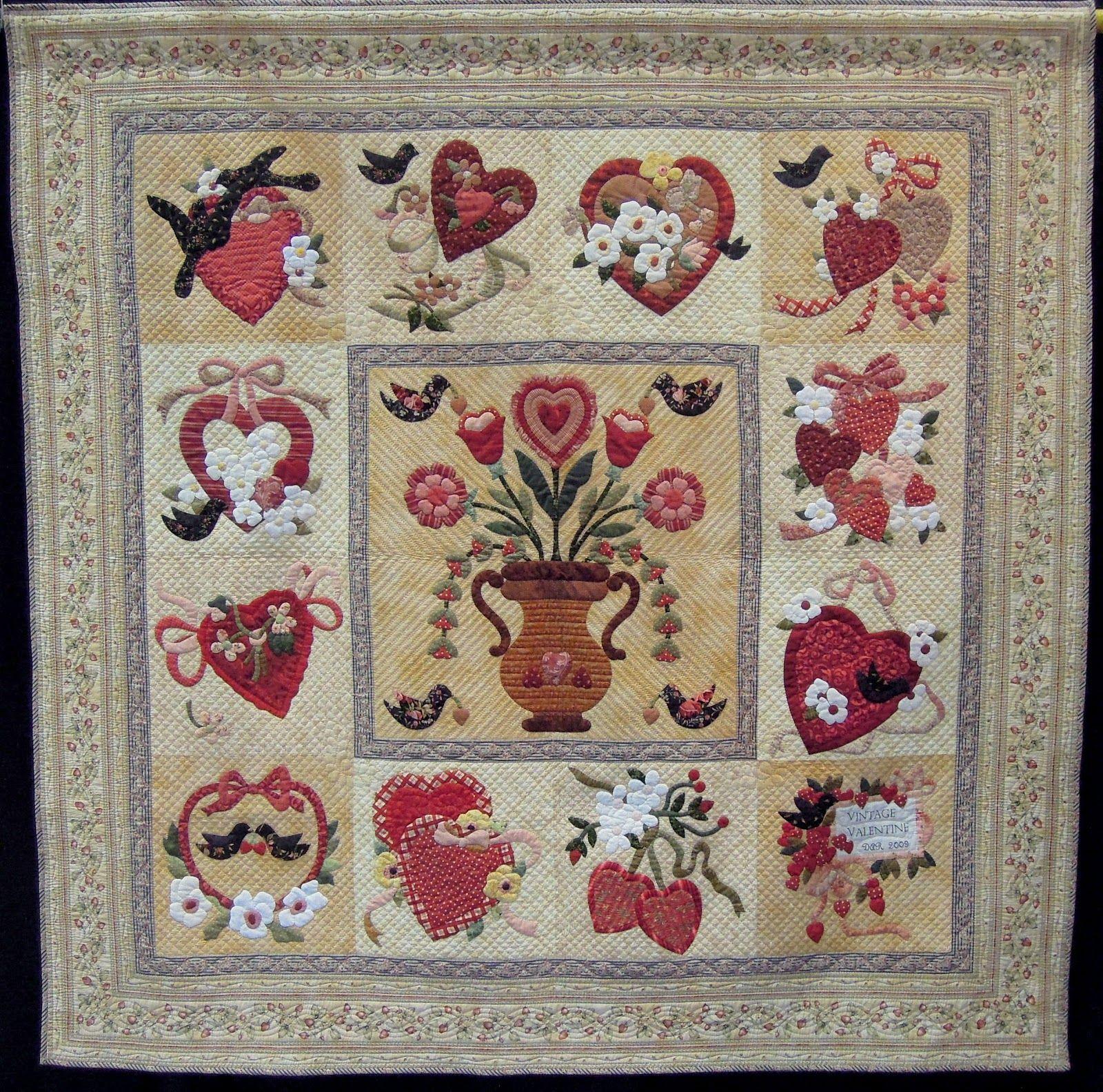Quilt Inspiration ~ Vintage Valentine by Dar Farmer & Sally Copeland