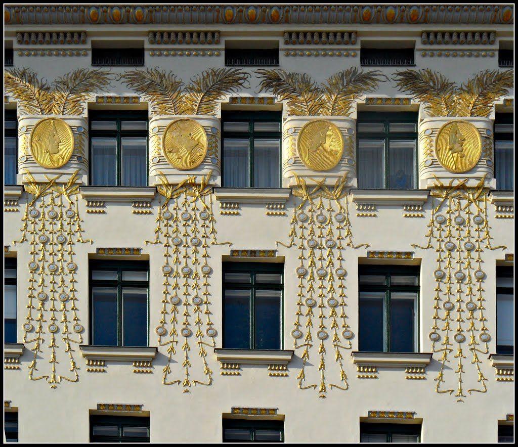 Lovely Wien Otto Wagner Haus Linke Wienzeile Ornamente von Koloman Moser