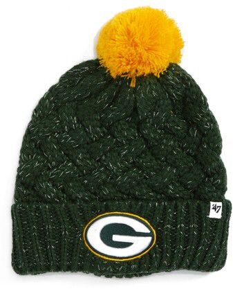 ee567654 Women's '47 Fiona Green Bay Packers Pom Beanie - Green | Athletic ...