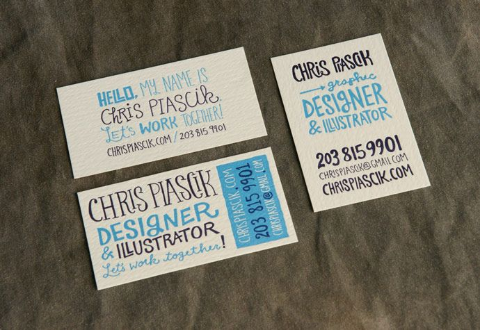 Chris Piascik Business Card Series