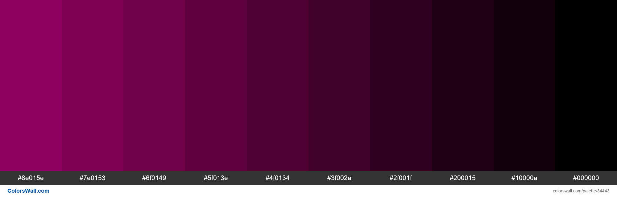Shades Xkcd Color Red Violet 9e0168 Hex Hex Colors Dark Magenta Creative Colour