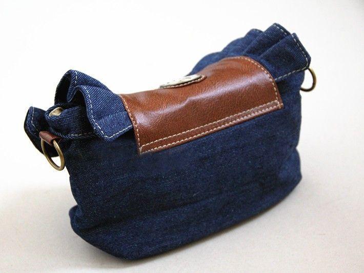 [ TC ] New 2014 super fashion denim bag skirts packet jeans handbag flounced denim bag lace packet hot selling women handbag