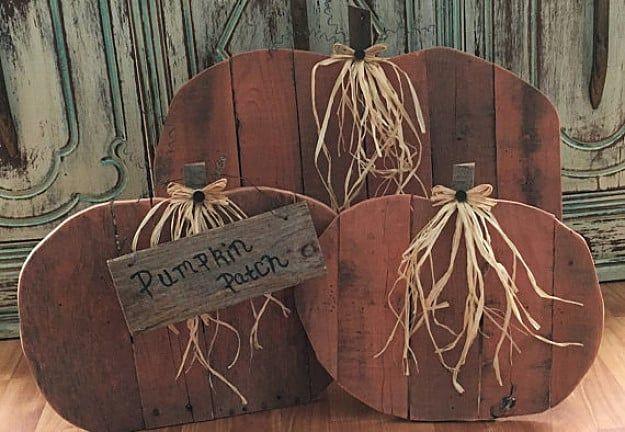 Pallet Project Ideas | Pallet pumpkin, Wood pumpkins, Fall ...