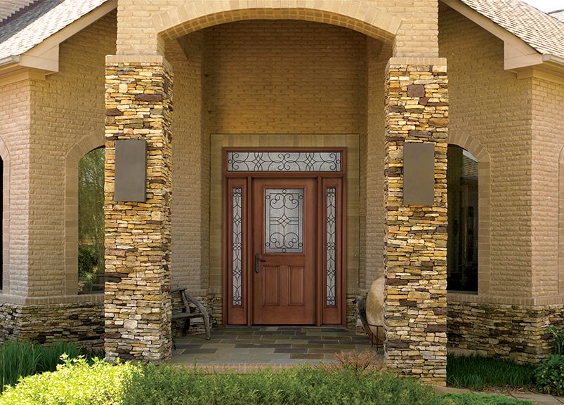 Therma Tru Fiber Classic Entry Door With Salina Glass Sidelights