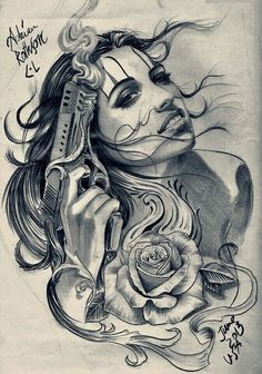 Tattoo Gangster Woman