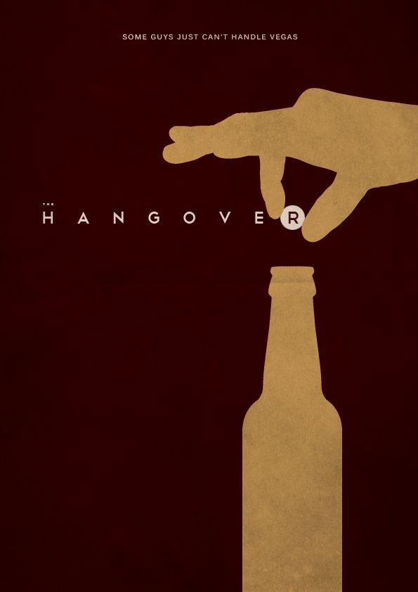 The Hangover Minimal Movie Poster By E Novazheev - Popular movie posters get redesigned with a beautifully minimal twist