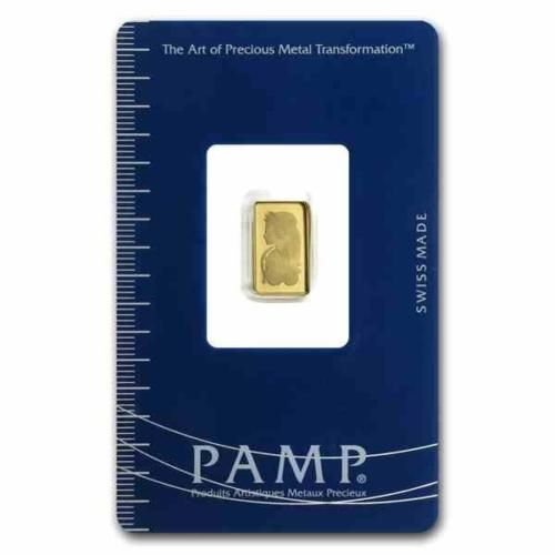 New 1 Gram Gold Pamp Suisse Fortuna Ingot Bar With Integrated Assay Certificate Gold Bar Gold Bars For Sale Bullion