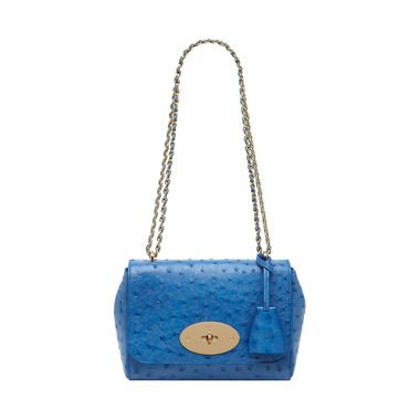 Mulberry - Lily in Bluebell Blue Ostrich  074f554e56b81
