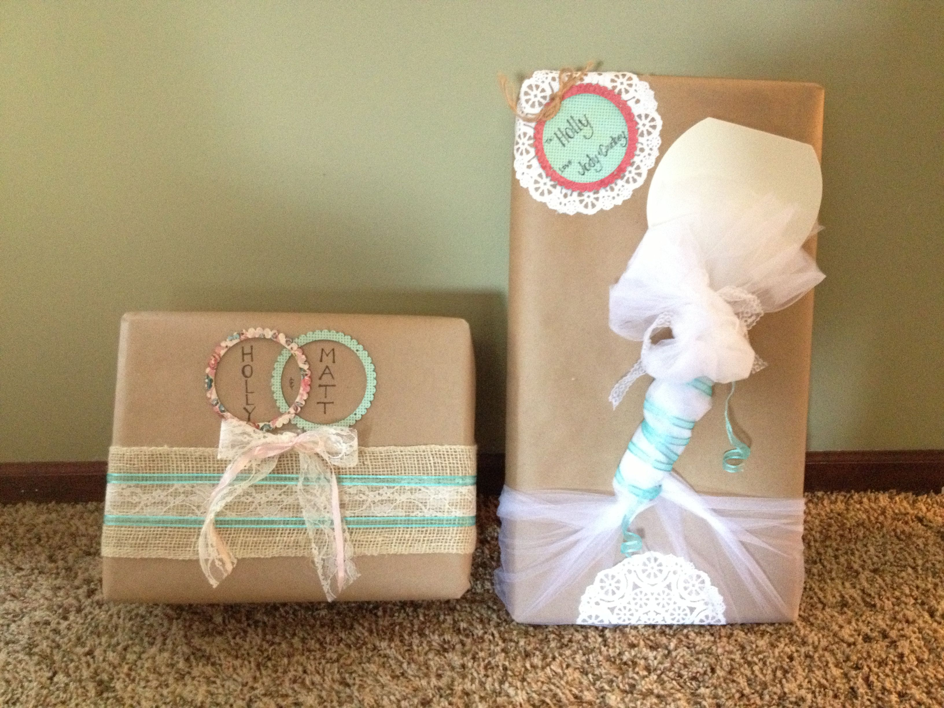 Ideas For Wrapping Wedding Gifts: Bridal Shower Gift Wrapping