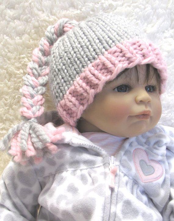 Malha De Crochê · BRAIDED Baby Hat Knitting Pattern pdf Permission by  ezcareknits 8a4f22efdc2