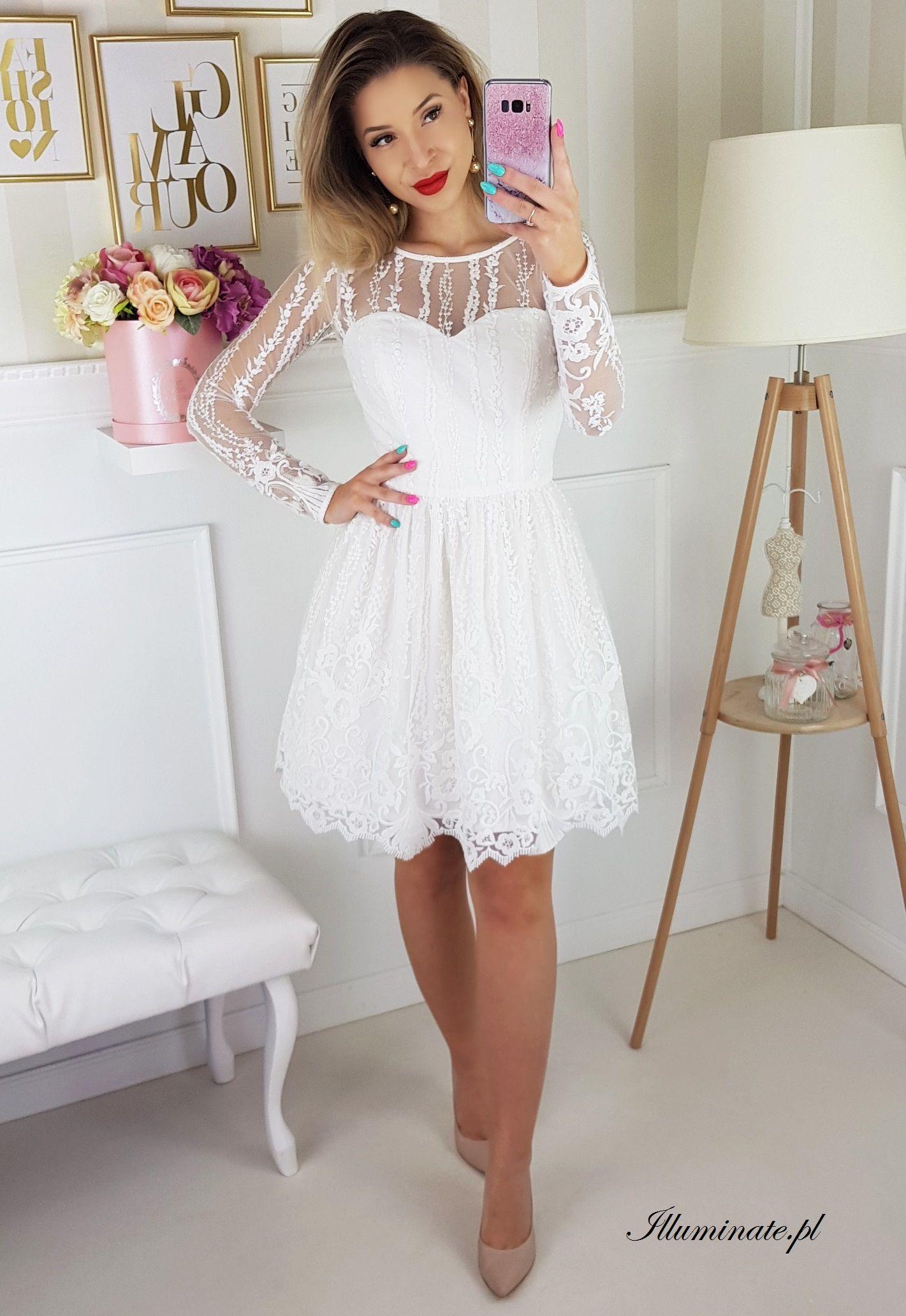 fac3dacb21 Biala tiulowa sukienka na poprawiny Allison