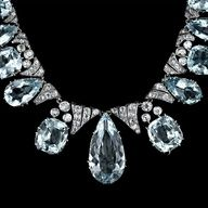 Antique Aquamarine and #Diamond Necklace