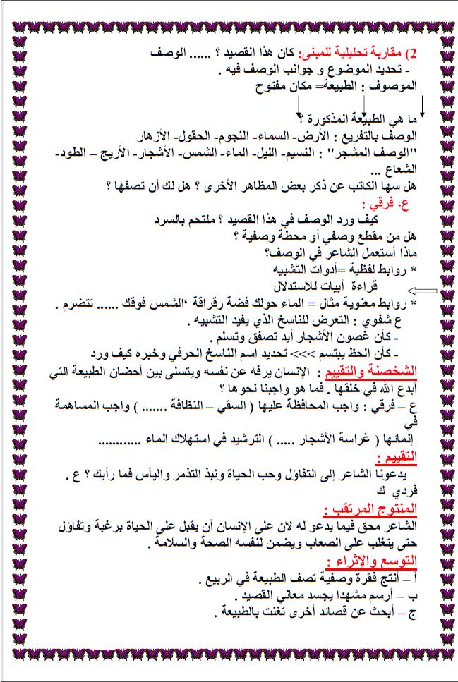 مجموعة من مذكرات اللغة العربية سنة 5 Math Math Equations