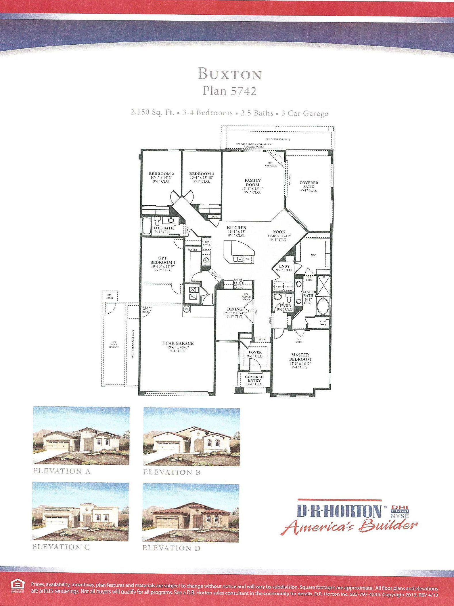 Dr Horton Buxton Floor Plan Mexico House House Plans Floor Plans