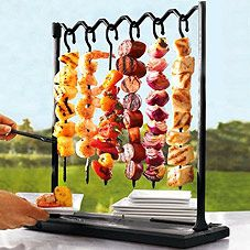 Great way to prep skewers!