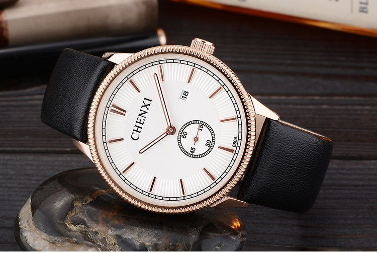 Best Friend Birthday Gift Wholesale Fashion Day Date Japan Movtt Energy Wrist Leather Band Wathces