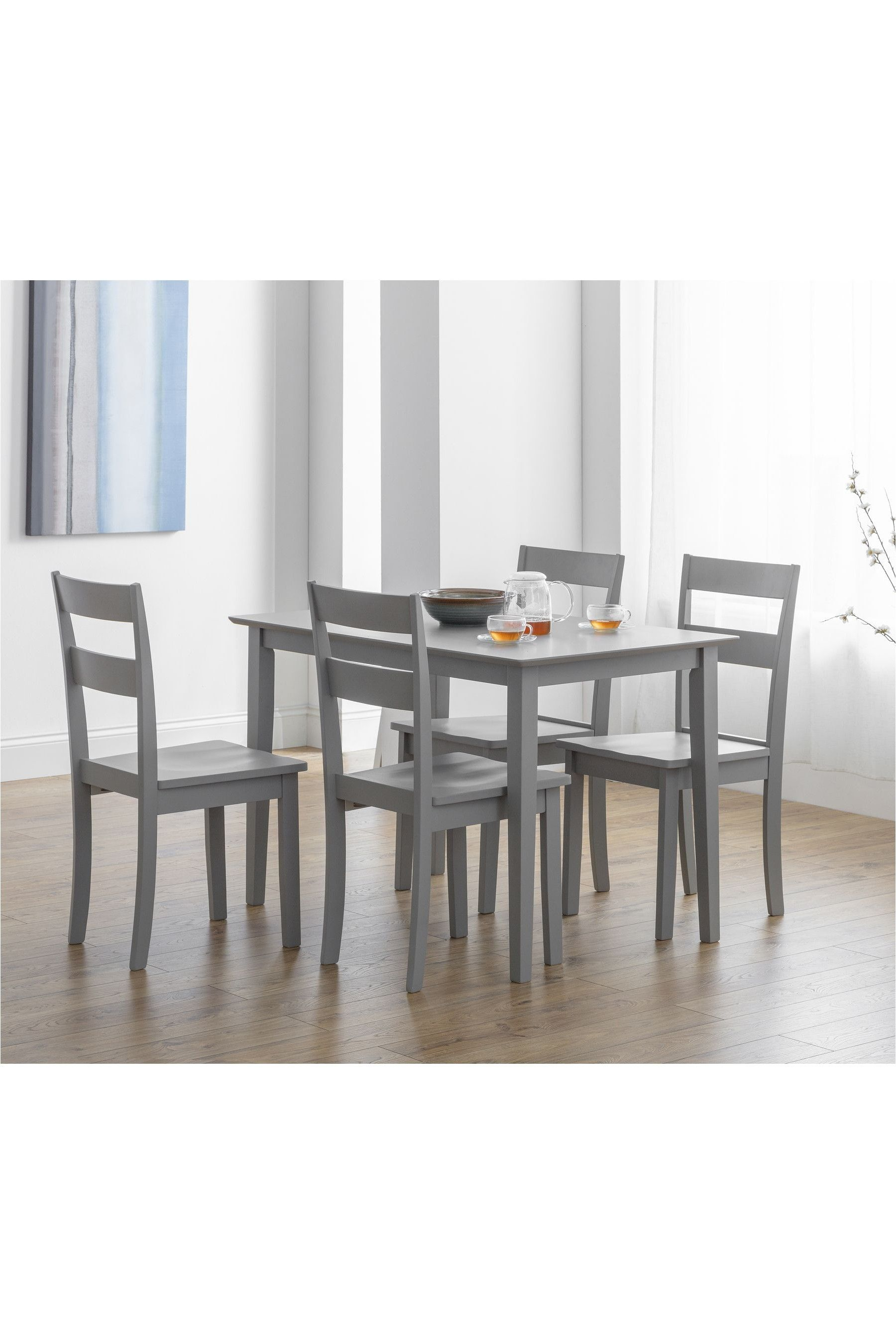 Kobe 4 Seater Dining Table Set By Julian Bowen 4 Seater Dining