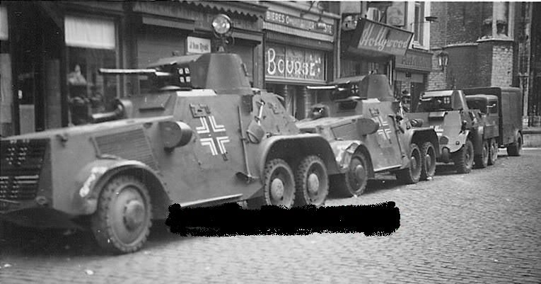 Landsverk L180 - M38 Armoured Car: photo's 1938-1940 and later.
