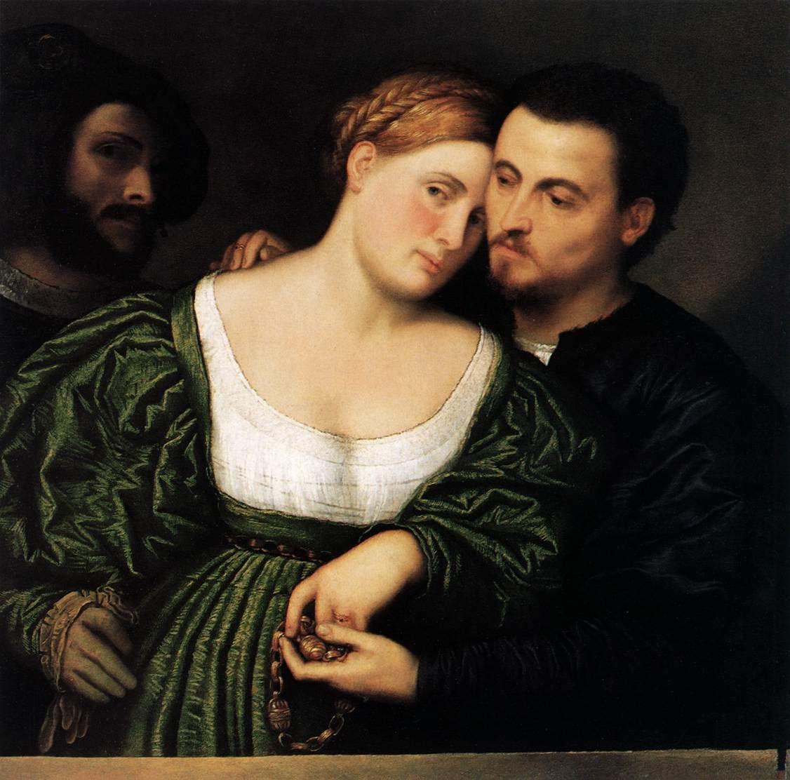 Paris Bordone, Les Amants Vénitiens, ca 1525- 1530, 81 x 86 cm, Pinacothèque de…