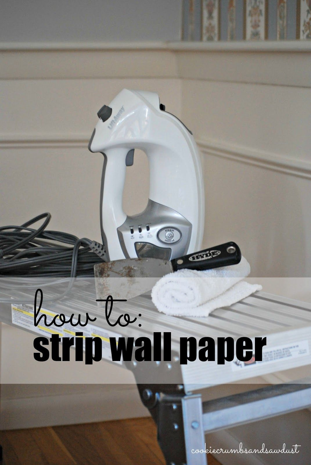 How To Strip Wallpaper Stripped Wallpaper Diy Renovation Wallpaper Steamers