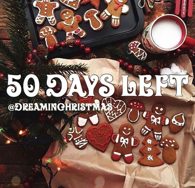 It's 50 days until Christmas Eve • QOTD Do you bake