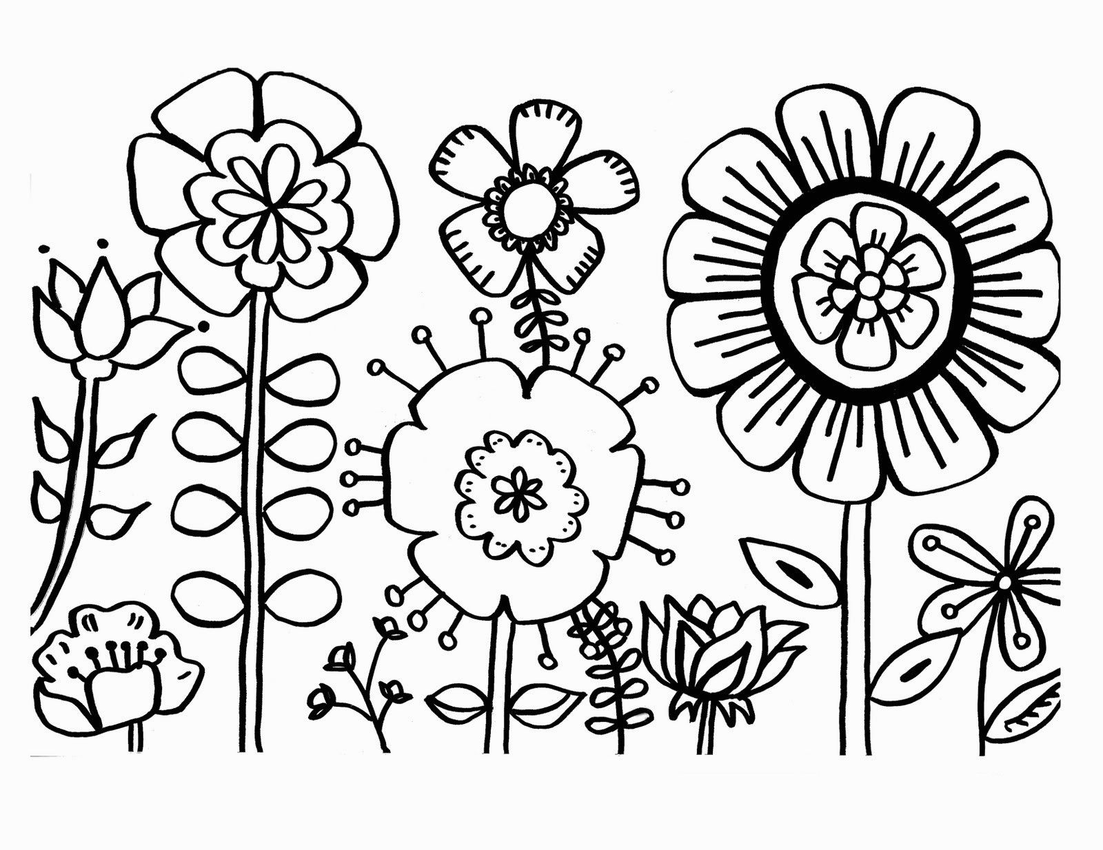 Coloring Sheets Of Flowers Bl5t Free Flower Coloring Pages 1928