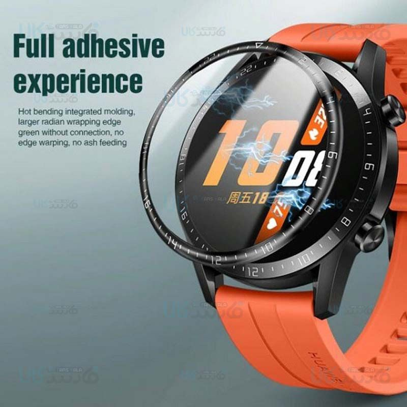 محافظ صفحه نمایش شیشه ای تمام صفحه ساعت هوشمند هواوی Full Glass Screen Protector Huawei Watch Gt 2 Glass Screen Protector Screen Protector Huawei Watch