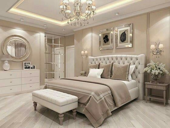 Pin By Esabaria On Interiores De Quarto In 2021 Simple Bedroom Design Elegant Master Bedroom Luxurious Bedrooms Modern elegant bedroom design