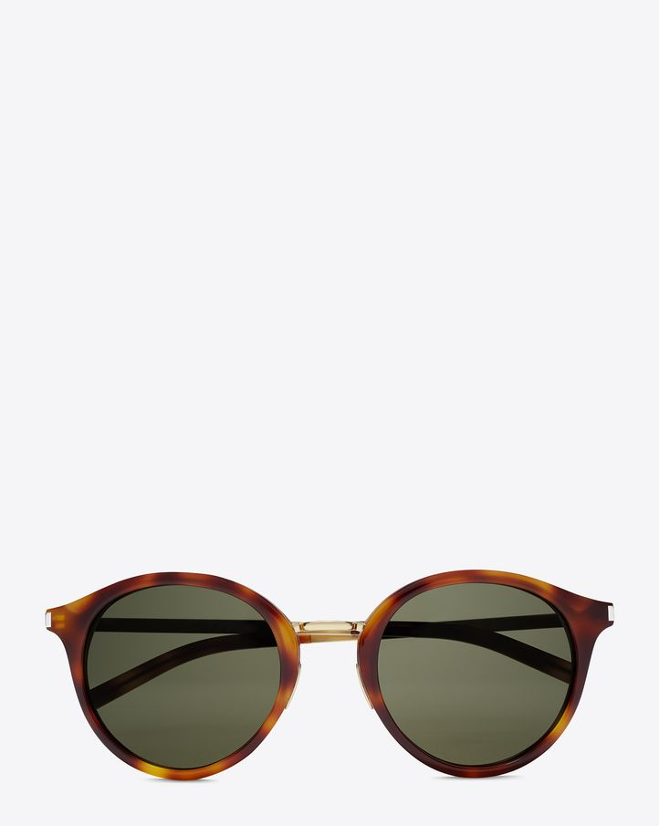 d0888636c74 Classic 57 sunglasses in shiny light havana acetate and shiny gold ...