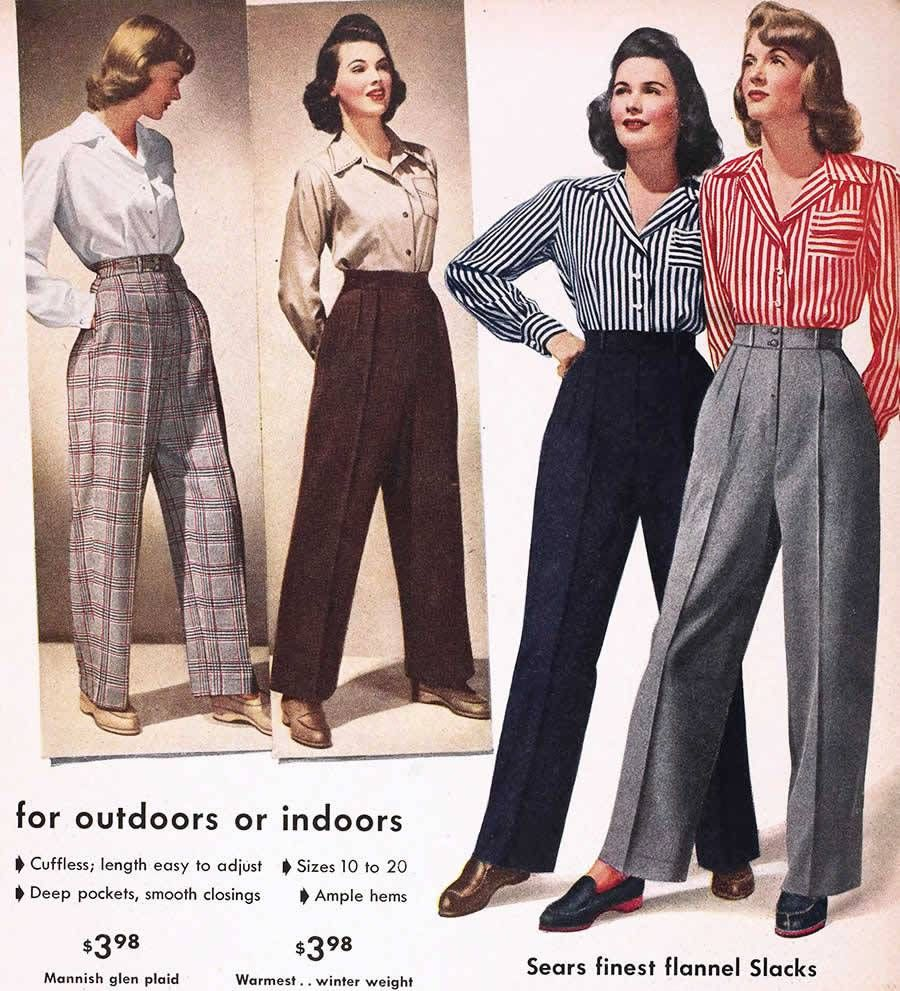Women?s 1940s casual fashion foto
