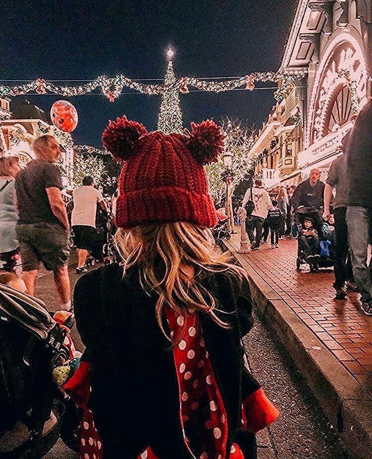 Mickey Beanie - double pom pom crochet beanie - Disney Style - mouse ear beanie